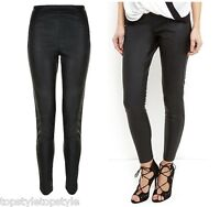 NEW LOOK BLACK COATED FINISH HIGH WAIST SLIM FIT JEGGINGS SIZES 10 TO 16  L 32''