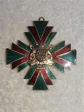 Vintage Accessocraft N.Y.C. Enamel Maltese Brooch~Pendant Pin