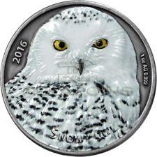 Burkina Faso 2016 1000 Francs Snowy Owl 1oz Silver Coin