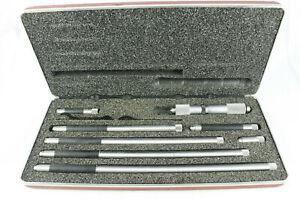 "L. S. Starrett No. 823 Tubular Inside Micrometer 4"" to 24"", w/ Case"
