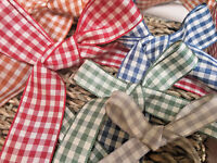 Berisfords UK Natural/Country Gingham Ribbon x 1 Metre. Choice of Colour & Width