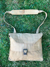 WW2  BRITISH ARMY OFFICERS SIDE-PACK / HAVERSACK .1942 ORIGINAL WITH STRAP.