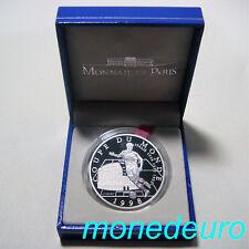 (238) FRANCIA 1998 10 FRANCOS PLATA PROOF FUTBOL 1998 COLISEO DE ROMA
