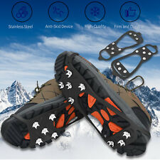 Ice Snow Crampons Cleats Anti-slip Shoes Spike Grips Boot Traction Grippers Hike