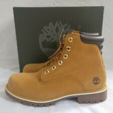 """Mens Timberland Basic 6 Inch 6"""" Boots Wheat Leather Lace Up Shoes Boots Size 11"""