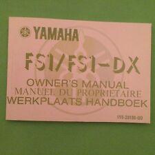 YAMAHA FS1E FIZZY FS1 FS1-E FS1-EA FS1-EA-DX 1977 OWNERS MANUAL