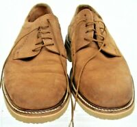 Johnston & Murphy Passport Oxford Men's 10 M Tan Suede Lace Up Dress Shoes Italy