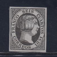Spagna (1851) Nuovo Spain - Edifil 6 (6 Cu ) Falso - Lotto 1