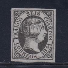 ESPAÑA (1851) NUEVO  SPAIN - EDIFIL 6 (6 cu) FALSO - LOTE 1