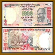 India 1000 Rupees, ND 2000 P-94 First Print Gandhi Unc