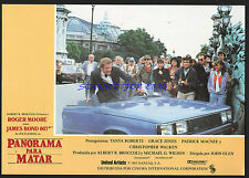 JAMES BOND A VIEW TO A KILL RARE ORIG SPANISH LOBBY CARD ROGER MOORE