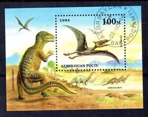 0024++AZERBAIDJAN  BLOC  ANIMAUX PREHISTORIQUES 1994
