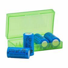 4x UltraFire CREE XML 16340 cr123a batería 1200 mah 3,6 V de iones de litio rcr123a + batteriebox