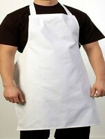 12 white chefs commercial grade bib apron poly cotton blend chefs cooking bbq