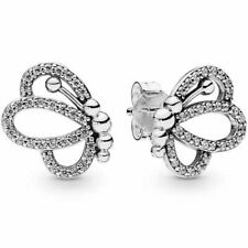 Pandora Butterfly Outlines Stud Earrings 297912CZ S925 ALE Genuine
