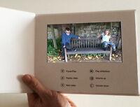 "Recordable Video Brochure Card 7"" HD Screen  Blank Talking A5 2gb"