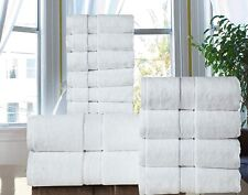 Hotel - Spa Quality Long Stapled 100% Cotton 600 GSM  12PC Bath Towel Set -WHITE