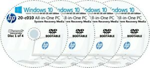 HP All-in-One -  20-c010 Factory Recovery Media 4-Discs Set / Windows 10 64bit