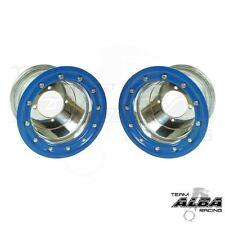 YFZ 450 YFZ 450R  Rear Wheels  Beadlock  8x8  3+5  4/115  Alba Racing  slvr/blu
