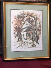 Vintage Duke Of Gloucester St Williamsburg VA Print Framed Signed John Haymson