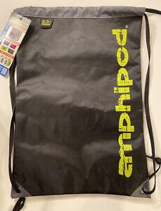 New Amphipod Racebag Backpack String Bag Carrier Running Walking Black Gray
