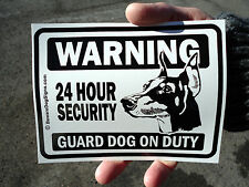 (3) Guard Dog Window/Door Stickers (Beware of Dog signs) - Free Shipping