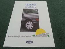 July 1988 FORD GRANADA 4x4 2.9 EFi UK FOLDER BROCHURE - FA868