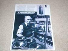 KEF Reference Model 107 Speaker Ad, Article, 1987, RARE