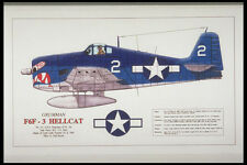 419085 Grumman F6F 3 Hellcat A4 Photo Print