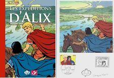 EO JACQUES MARTIN  N° + TIMBRES  + SIGNATURES + EX LIBRIS LES EXPÉDITIONS D'ALIX