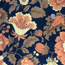 "Bloomcraft Upholstery Fabric Orange Floral 54"" x 3 Yards Original Screenprint"