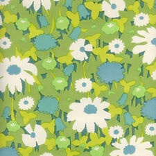1960s ORIGINAL Everything's Coming Up DAISIES Vintage Wallpaper - Retro Flower