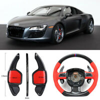 Carbon Fiber Gear DSG Steering Wheel Paddle Shifter Cover Fit For Audi R8 2012