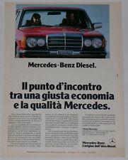 Advert Pubblicità 1981 MERCEDES DIESEL W123