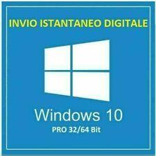 LICENZA WINDOWS 10 PRO 32 / 64 BIT KEY WIN 10 LICENSE ORIGINALE