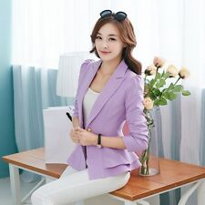 2017 Hot Women Newest Casual Business Blazer One Button Slim Suit Jacket Coat R