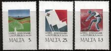 Malta MNH sg552-554 1975 1 ° Anniversario della Repubblica Set di 3