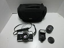 MINOLTA XE-5 35mm SLR CAMERA with 2 LENSES