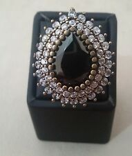 Turkish 925 Sterling Silver Ring with Bronze and Stone Size 7,5 Wt:18 gr #233