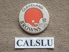 "VINTAGE 1970's - 1980's ☆RARE☆ CLEVELAND BROWNS ☆HELMET☆ 3 1/2"" PIN BACK BUTTON"