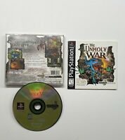 Unholy War (Sony PlayStation 1, 1998) TESTED WORKING!! PS1