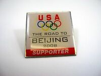 Collectible Pin: USA Olympics The Road to Beijing 2008 Supporter