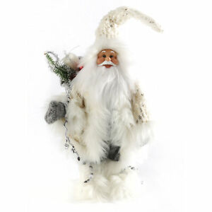 Christmas 50cm Nordic Standing Santa with Sack Decoration