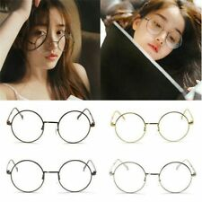 Cute Charms Metal Frame Clear Round Lens Glasses Nerd Spectacles Eyeglass New