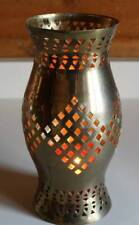 Vintage Hurricane Brass Chimney Shade for Lamps Lights Candle Holders 10 Inches
