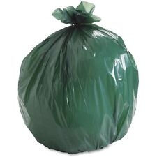 Stout EcoDegradable Bags, Extra Heavy Duty, 33 gal, 1.1mil, 33 x 40, Green, 40/C
