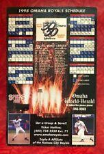 "OMAHA ROYALS MINOR LEAGUE BASEBALL 1998 SCHEDULE MAGNET  5.5"" x 8.5"""