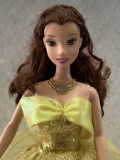 Disney Beauty & The Beast Belle Dress Changing & Lightup Necklace Doll