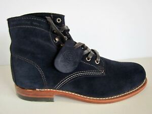 NEW Wolverine 1000 Navy Blue Suede W40092 Leather Mens Boots - SZ 7.5 D
