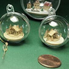 Bastelset Mini Krippe Cent platte  Christbaumkugel inklusiv Schneekugel 3 cm